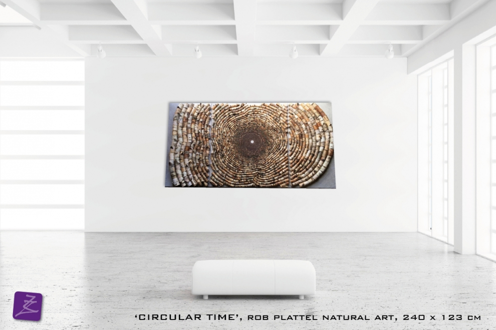 natural art Rob Plattel Circular time (berk)