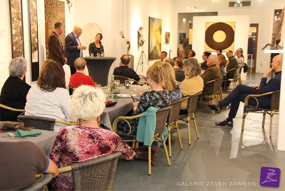 kunstdiner galerie Zeven Zomers met Matthijs Schouten, Rob Plattel, Rose van den Hurk