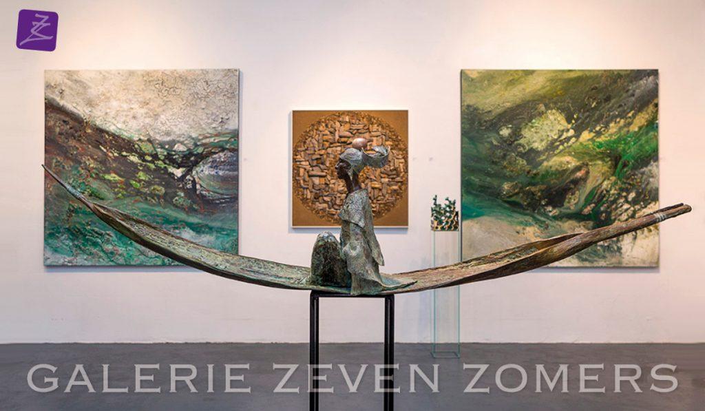 galerie zeven zomers nijmegen schilderijen bronzen beelden glaskunst anke birnie eelko van iersel natural art rob plattel rose van den hurk rieke van der stoep expositie kunst