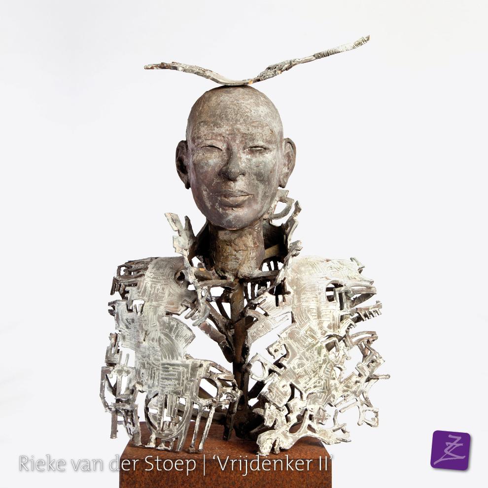 Rieke van der Stoep Vrijdenken sjamaan spiritueel dankbaarheid culturen brons religie azie zuid-amerika beeldtaal tekens figuratief verfijnd vrouw man sculpture sculpturelover