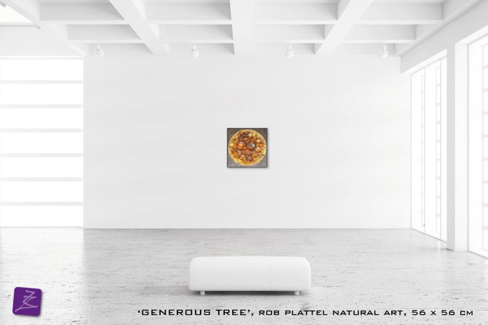 natural art Rob Plattel GENEROUS TREE galerie Zeven Zomers nijmegen natuur kunst te koop natural rhythms