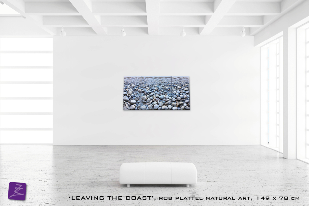 natural art Rob Plattel LEAVING THE COAST galerie Zeven Zomers nijmegen natuur kunst te koop natural rhythms STENEN perspectief