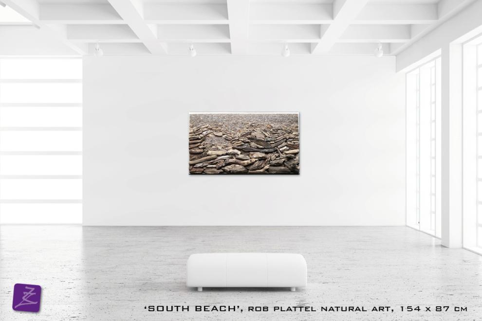 natural art Rob Plattel SOUTH BEACH galerie Zeven Zomers nijmegen natuur kunst te koop natural rhythms hout drijfhout perspectief
