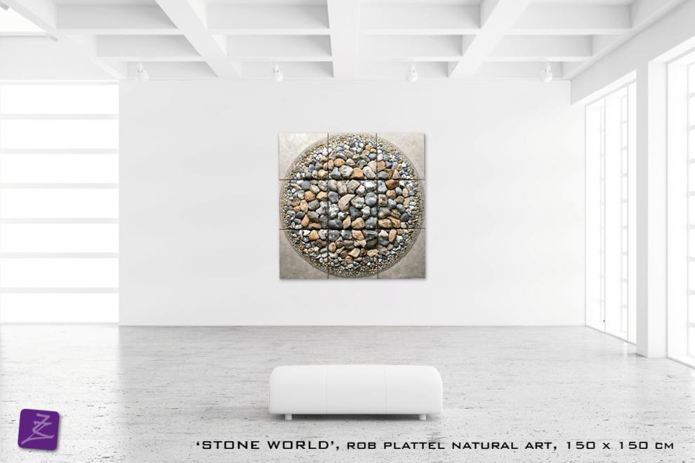 natural art Rob Plattel STONE WORLD galerie Zeven Zomers nijmegen natuur kunst te koop natural rhythms steen steen zee