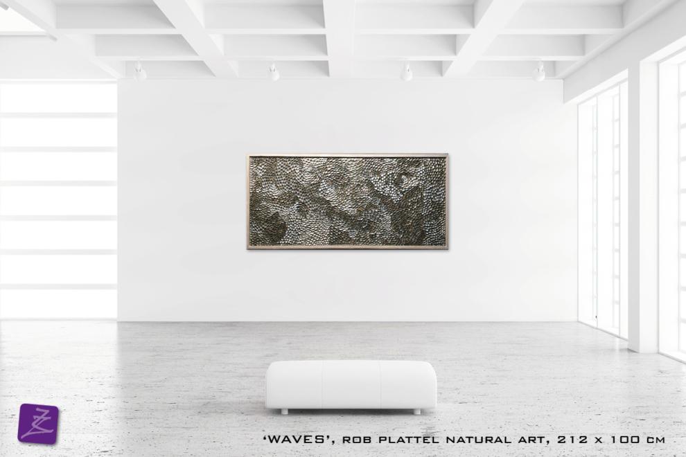 natural art Rob Plattel WAVES galerie Zeven Zomers nijmegen natuur kunst te koop natural rhythms schelpen zee