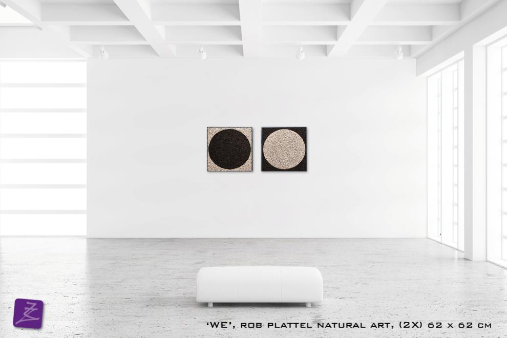natural art Rob Plattel WE galerie Zeven Zomers nijmegen natuur kunst te koop natural rhythms hout salix almus yin yang