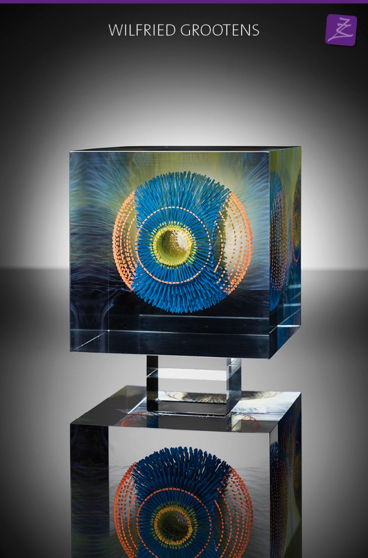 glaskunst magisch kleur uniek wilfried grootens kubus massief