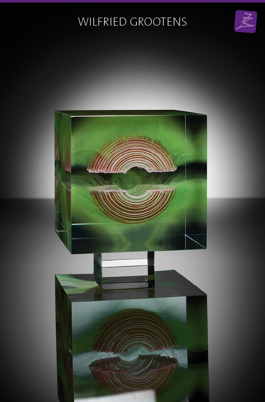 glaskunst magisch kleur uniek wilfried grootens kubus massief uniek