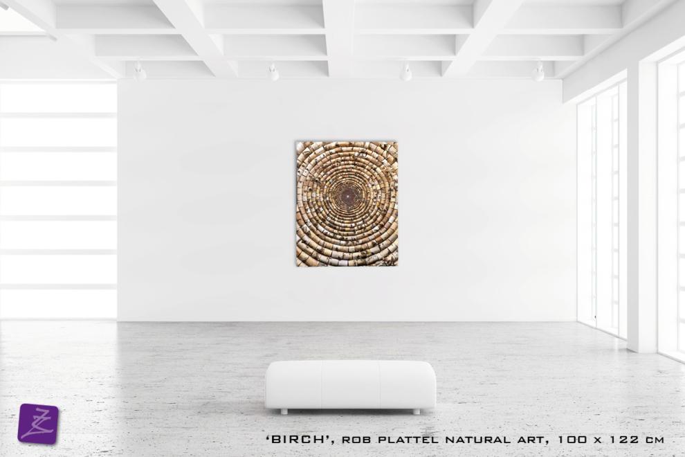 Natural ART Rob Plattel EDEN galerie Zeven Zomers natuurlijke materialen berk berkenboom berkenhout natuurkunst