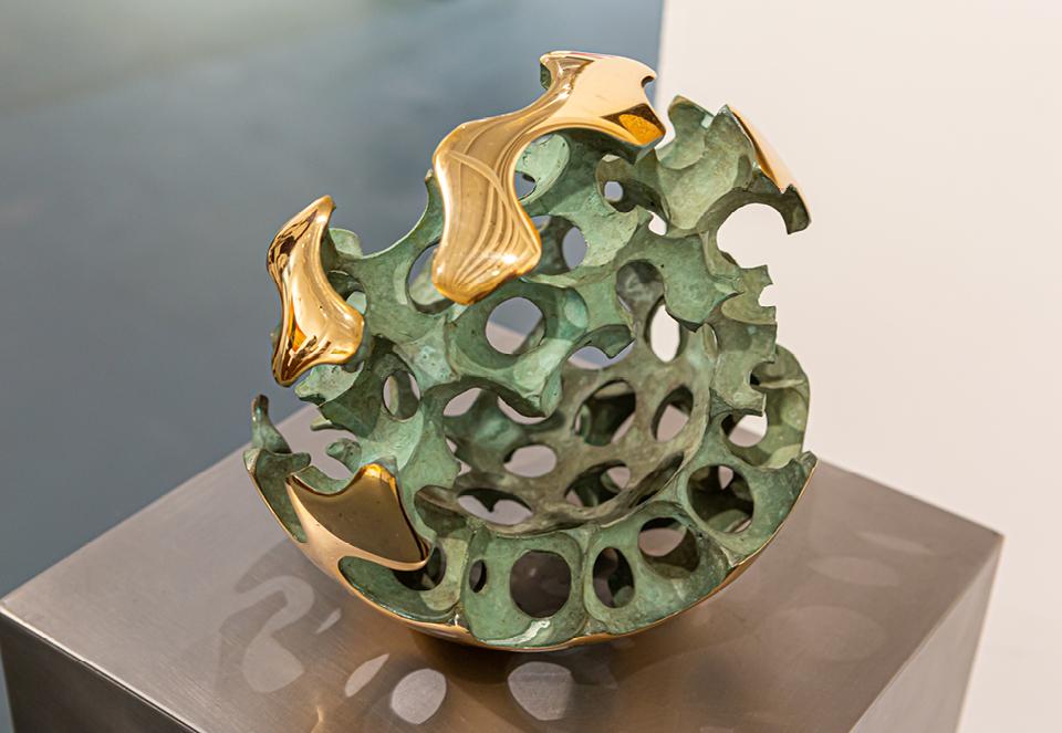 Gerard Neijenhuis kunst abstract bol brons galerie Zeven Zomers Nijmegen expositie