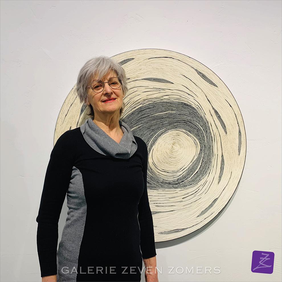 Annelies Reijers papierkunst papier kunst Reijersart braillepapier Cercle verstild optisch galerie Zeven Zomers expositie Nijmegen